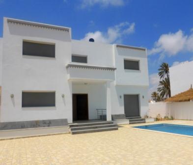 villa de vacances avec piscine vue de mer a Djerba