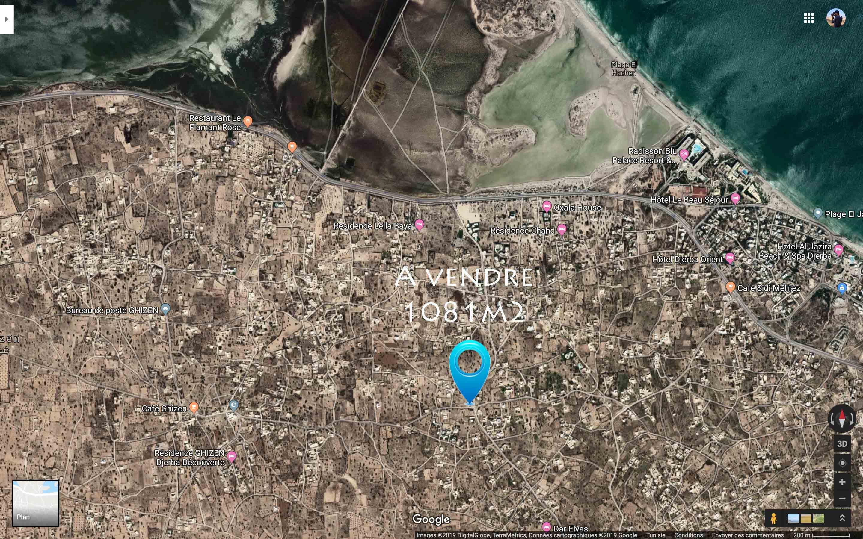 Terrain commerciale au centre de mezraya a un km de la zone touristique